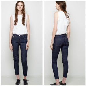 Acne Studios Pin Raw Reform High Rise Jeans Blue